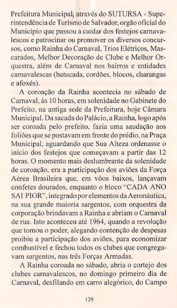 Livro - Bahia Carnaval - 1ªEdição - Anízio Félix & Moacir Nery - pag129